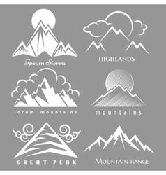 White mountain logo set vector image vector image