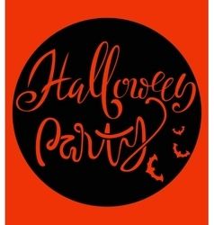 Happy halloween handwritten lettering composition vector