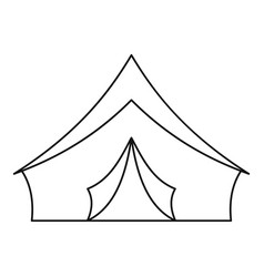 Tourist camping tent icon outline style vector