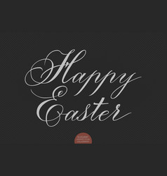 Hand drawn lettering happy easter vector