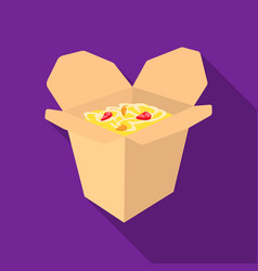 Noodles icon in flat style for web vector