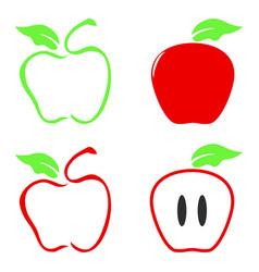 Color apple icon vector