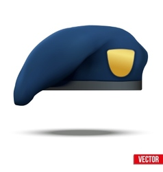 Military blue beret navy special forces vector