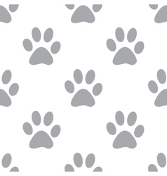 New paw seamless pattern vector