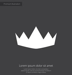 Crown premium icon vector
