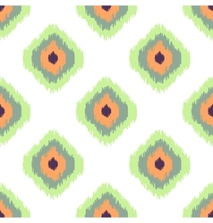 Ikat seamless pattern abstract geometric vector