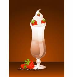 iced cream Sunday vector image