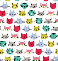 Cute cats background vector