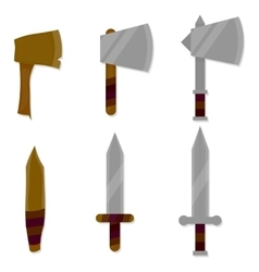Set of weapon vector image