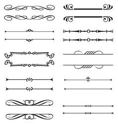 Calligraphic decorative elements Set vector image