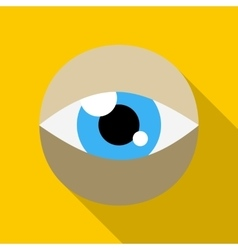 Blue eye icon in flat style vector