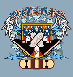 Skateboard crossfeet vector