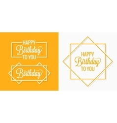 Birthday set badges labels vector