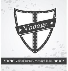 Black shield label with retro vintage styled vector image vector image