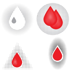 blood drop icons vector image vector image