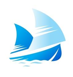 Blue ship sign vector