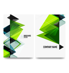 business brochure cover layout flyer a4 template vector image vector image