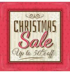 color christmas background and sale offer vector image vector image