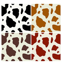 Cow print pattern vector