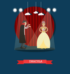 dracula movie or theatrical performance vector image vector image