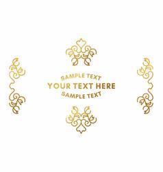 golden luxurious logo frame golden on white vector image vector image