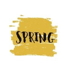 handdrawn lettering Spring vector image vector image