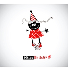 Happy Birthday girl funny vector image