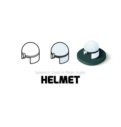 Helmet icon in different style vector image