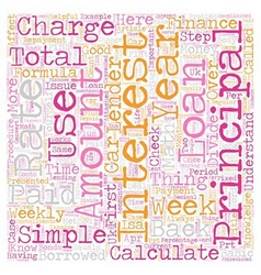 How do i calculate finance charges text background vector