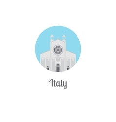 Italy landmark isolated round icon vector image vector image