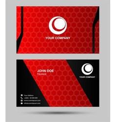 Modern businesscard set vector