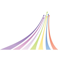 Multicolored arrows vector
