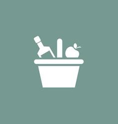 picnic basket icon simple vector image