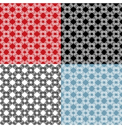 Set of geometric ornaments - seamless patterns - vector image
