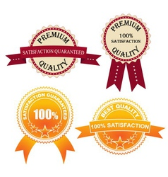 Set of Quality Labels vector image