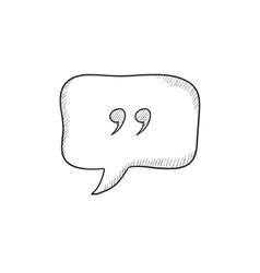 Speech bubble sketch icon vector image vector image