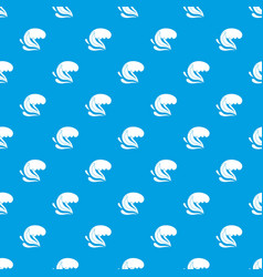 Surf wave pattern seamless blue vector