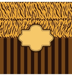 Tiger skin background vector