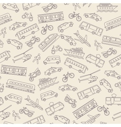 Transportation seamless background vector image vector image