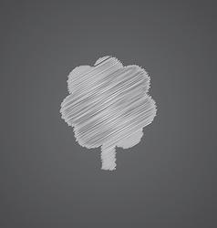 Tree sketch logo doodle icon vector