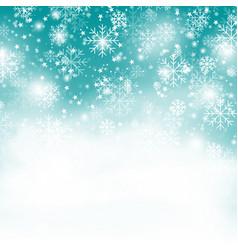 Turquoise snowflake backgroundchristmas snowfall vector