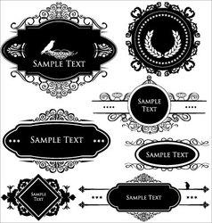 Vintage frames vector image vector image