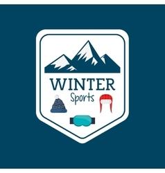 Winter sport season poster vector