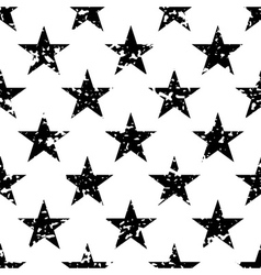 Grunge stars seamless pattern vector image