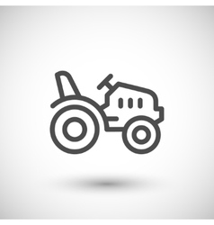 Mini tractor line icon vector