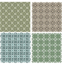 Big vintage plaid patterns set background vector