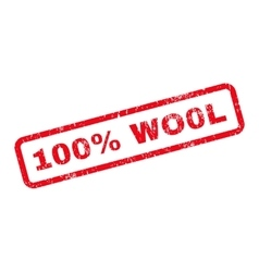 100 percent wo0l text rubber stamp vector