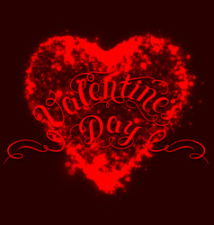 happy valentines day card shining vector image