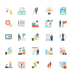 Human resources and management icons 9 vector