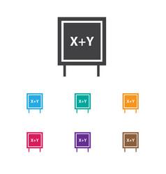 Of teach symbol on writing vector